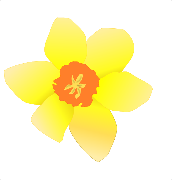 Stripped clip art at. Daffodil clipart