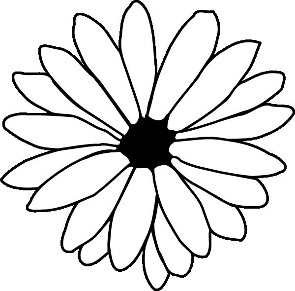 Outline clip art at. Daisy clipart six flower