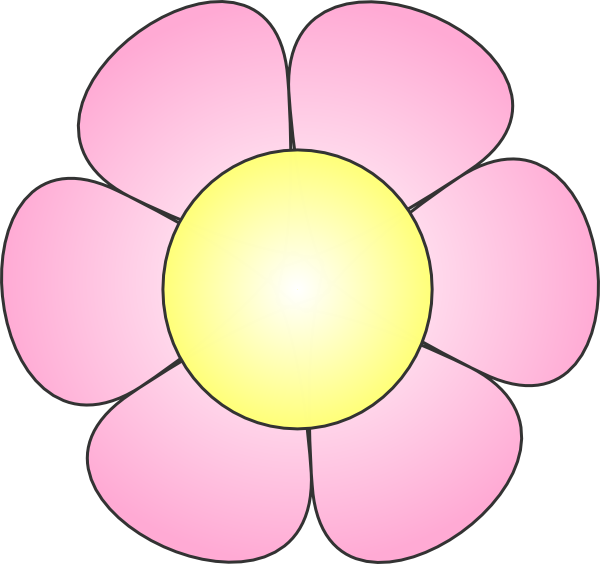 Pink clip art at. Daffodil clipart daisy plant