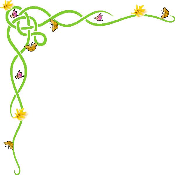 Border yellow clip art. Garden clipart banner