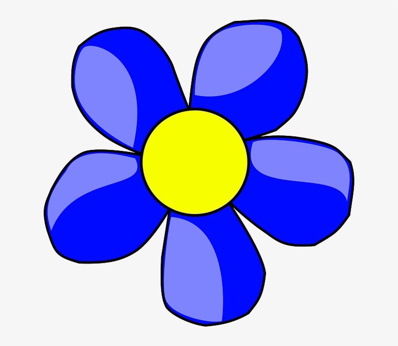 Blue outline plants flower. Daffodil clipart head