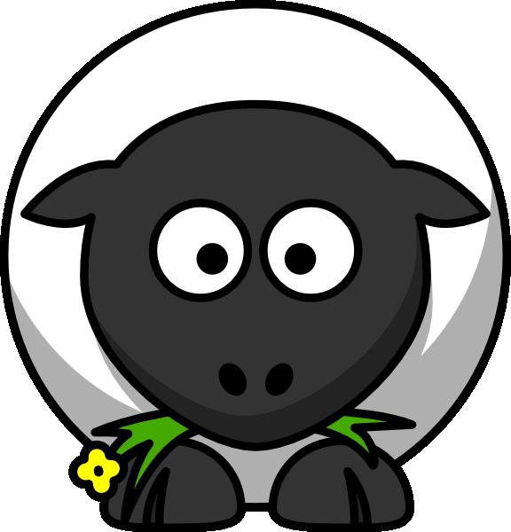 Cartoon sheep clip art. Lamb clipart border