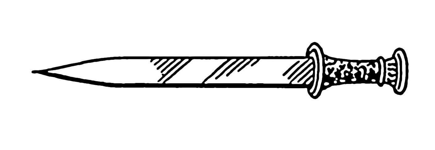 Sw equipment line art. Dagger clipart