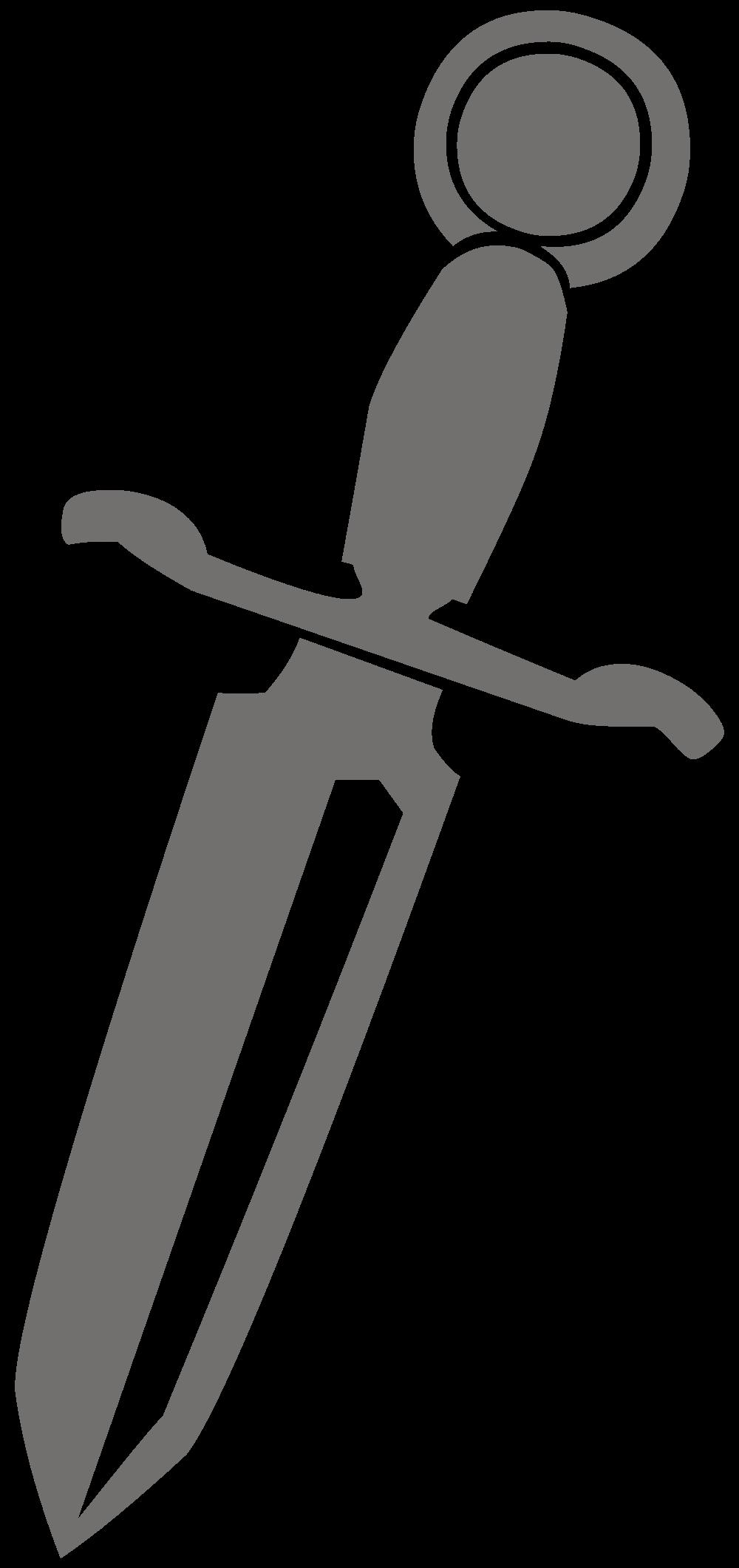 Dagger clipart black and white. File silhouette l svg
