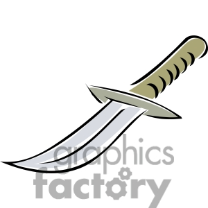 Cartoon royalty free . Knife clipart nife