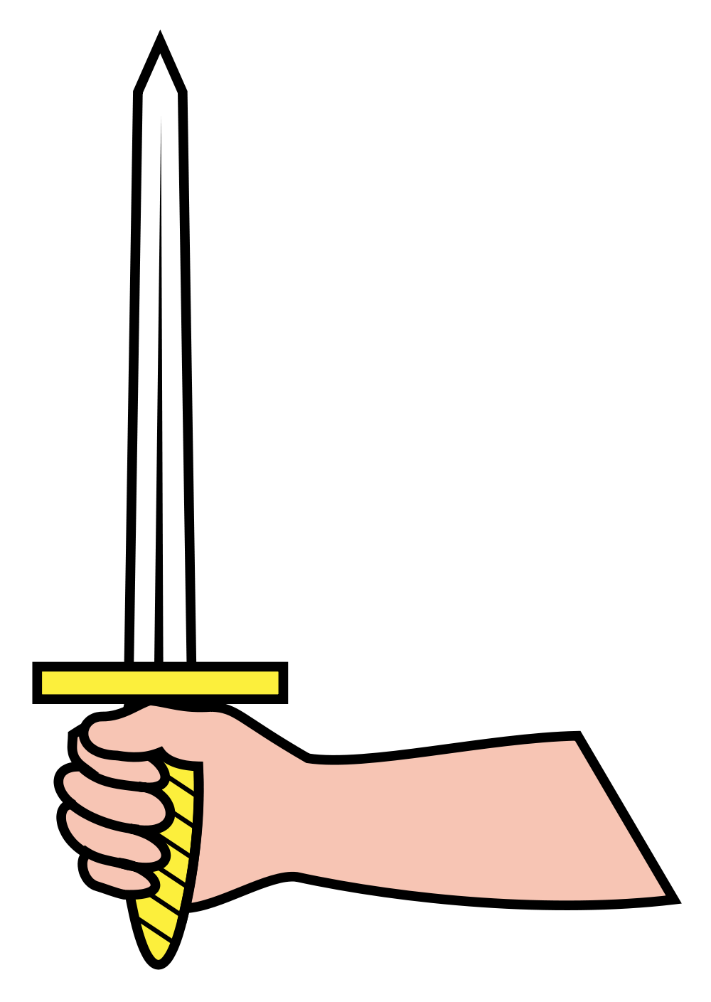 Dagger clipart hand holding. File h raldique meuble