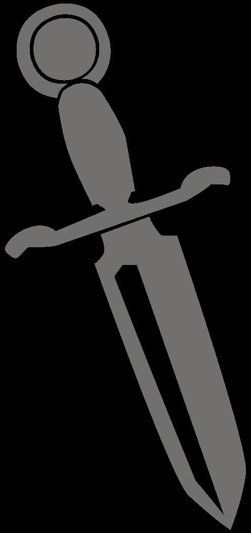 File dagger silhouette wikimedia. R clipart svg