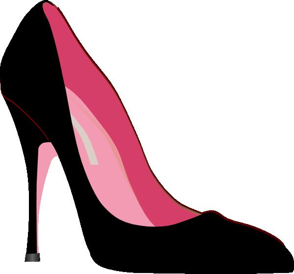 Heels clipart easy. Black dress high heel