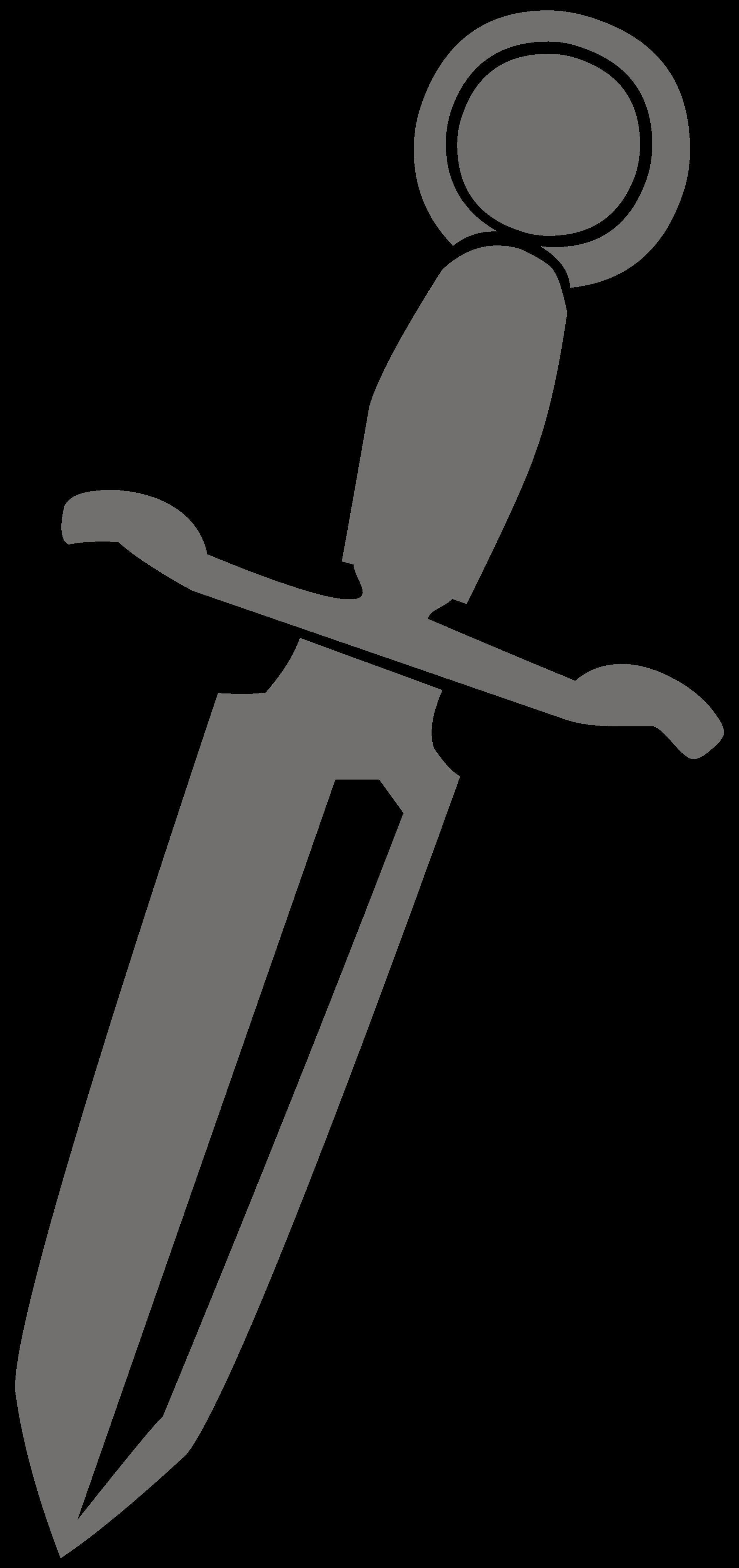File silhouette l wikimedia. Dagger clipart svg