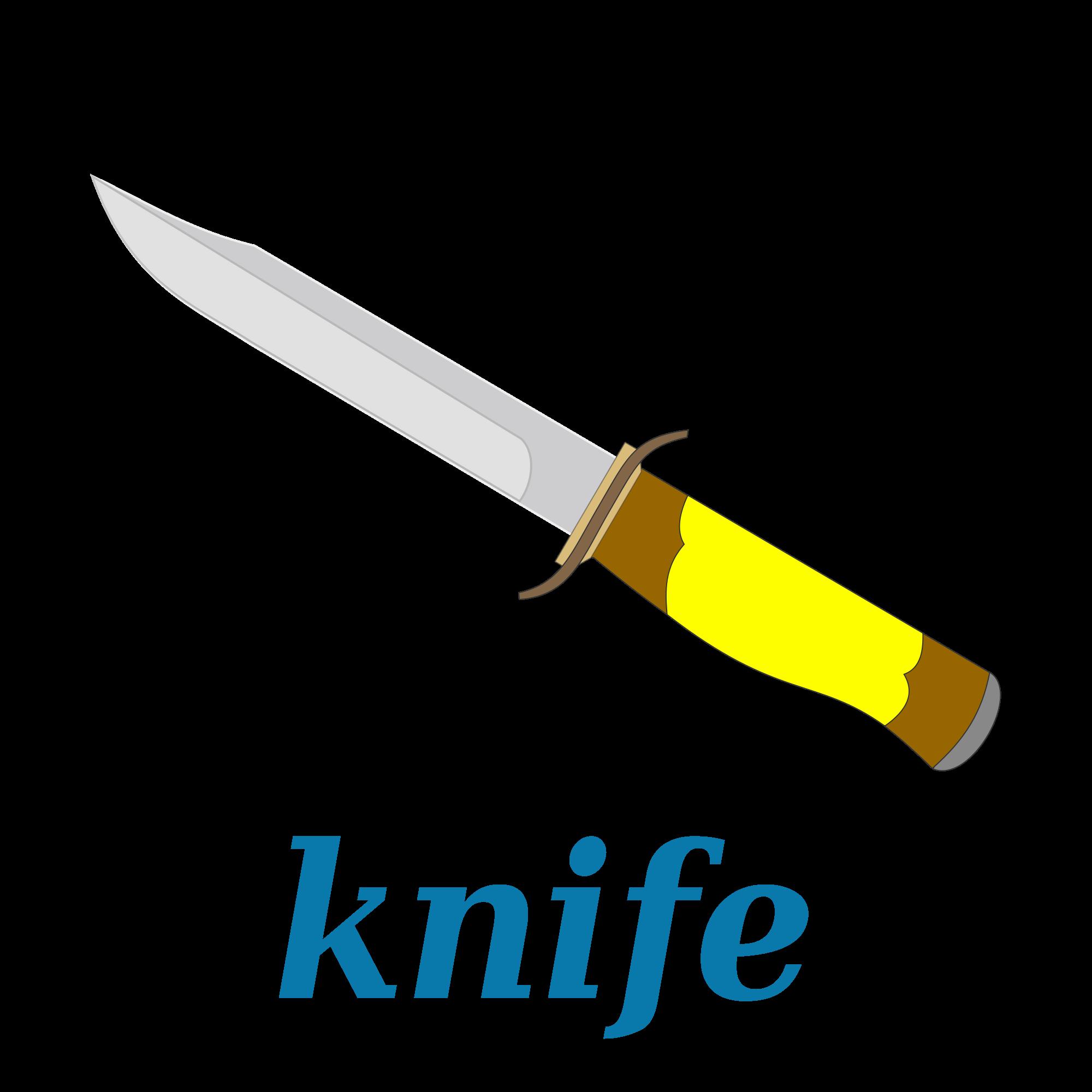 Hunting clipart knife. File wikivoc svg wikimedia