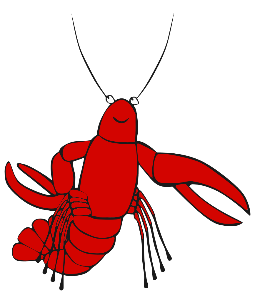Transparent background free on. Lobster clipart watercolor