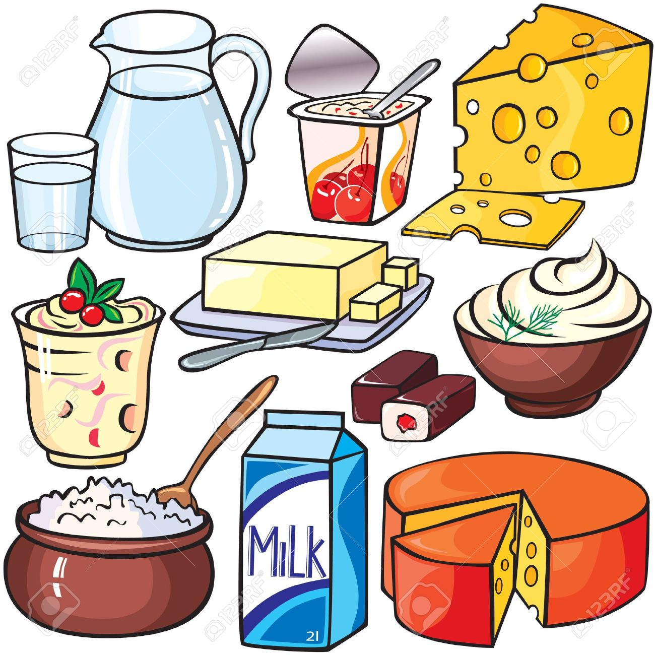Dairy clipart.  collection of milk