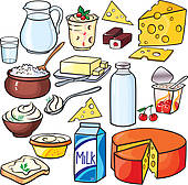 Dairy clipart. Products clip art royalty