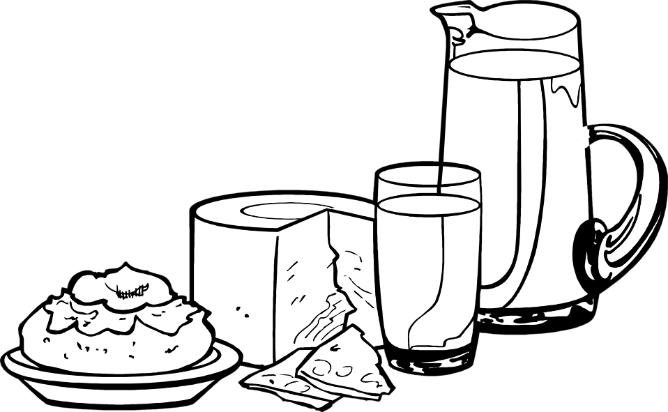 collection of dairy. Yogurt clipart outline