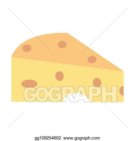 Vector art food drawing. Dairy clipart cheese french