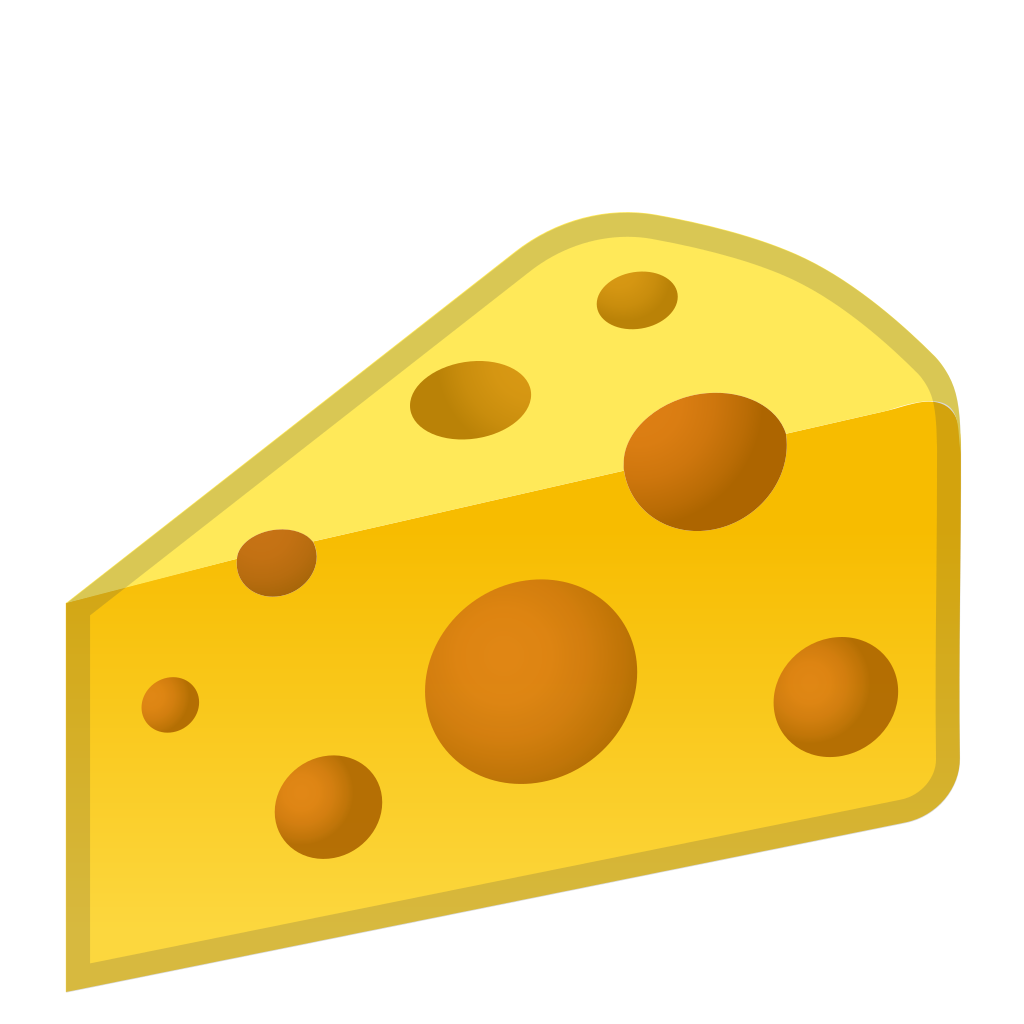 Icon noto emoji food. Cheese clipart cheese wedge