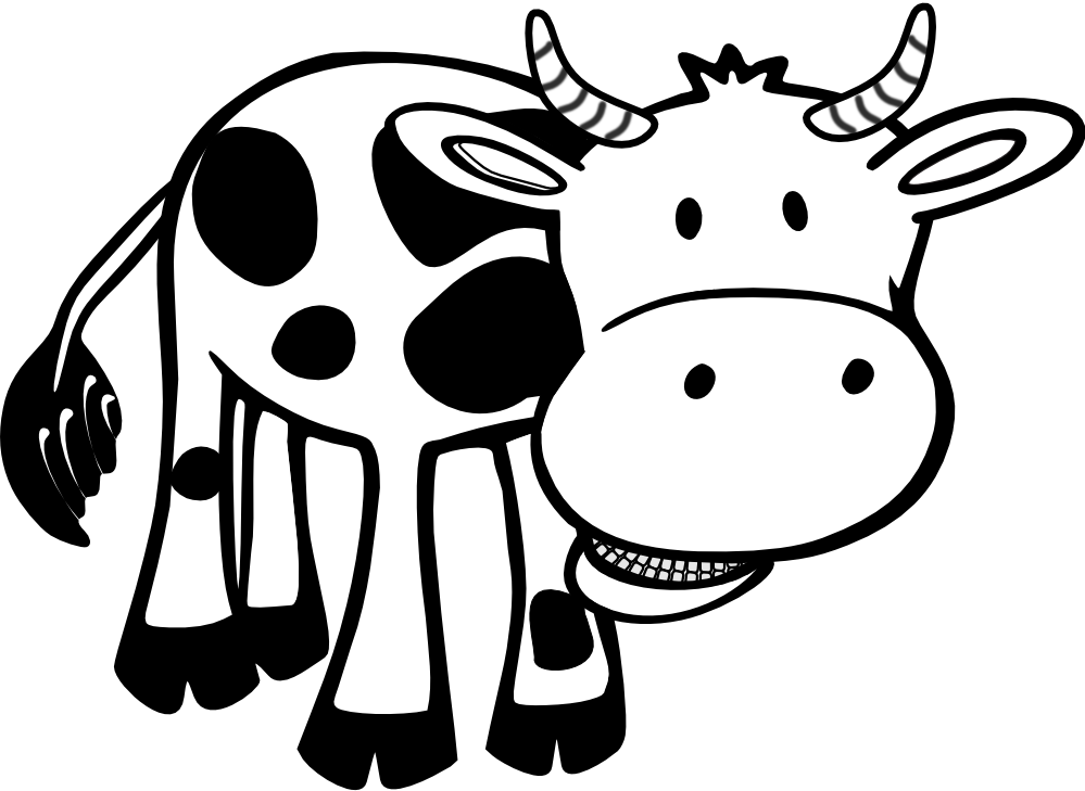 Friesian cattle calf dairy. Head clipart holstein