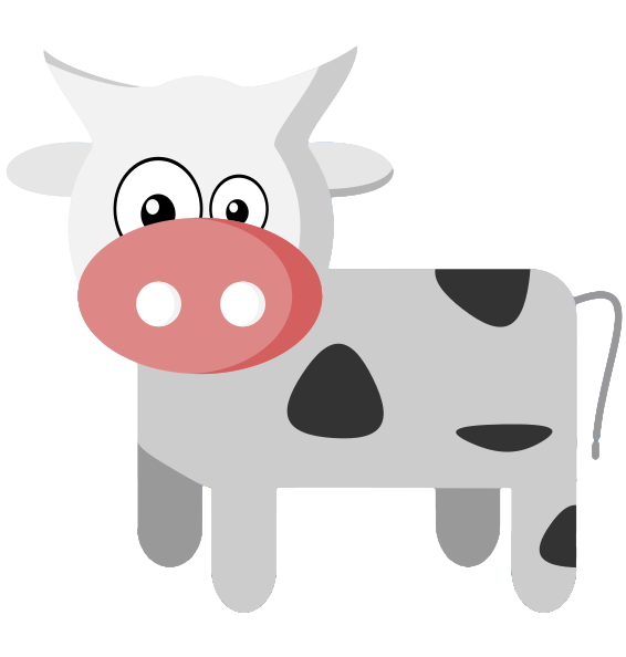 Pretty cow pencil and. Dairy clipart cute