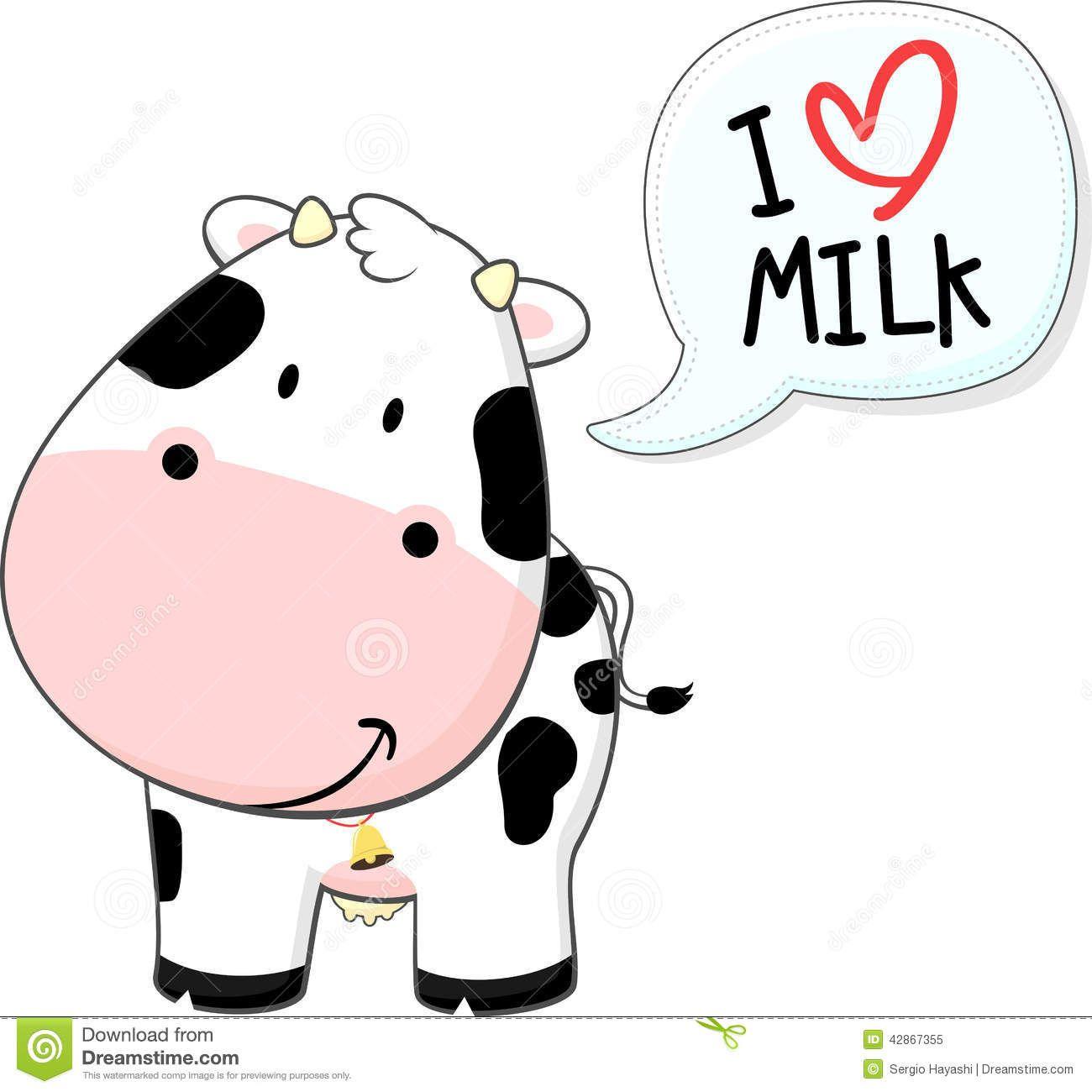 Baby cow cartoon stock. Dairy clipart cute