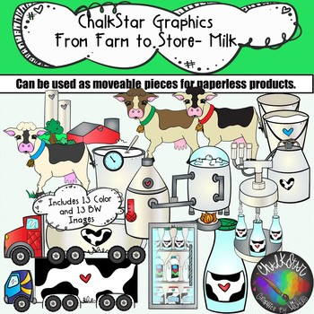 Farm to table milk. Dairy clipart dairy store