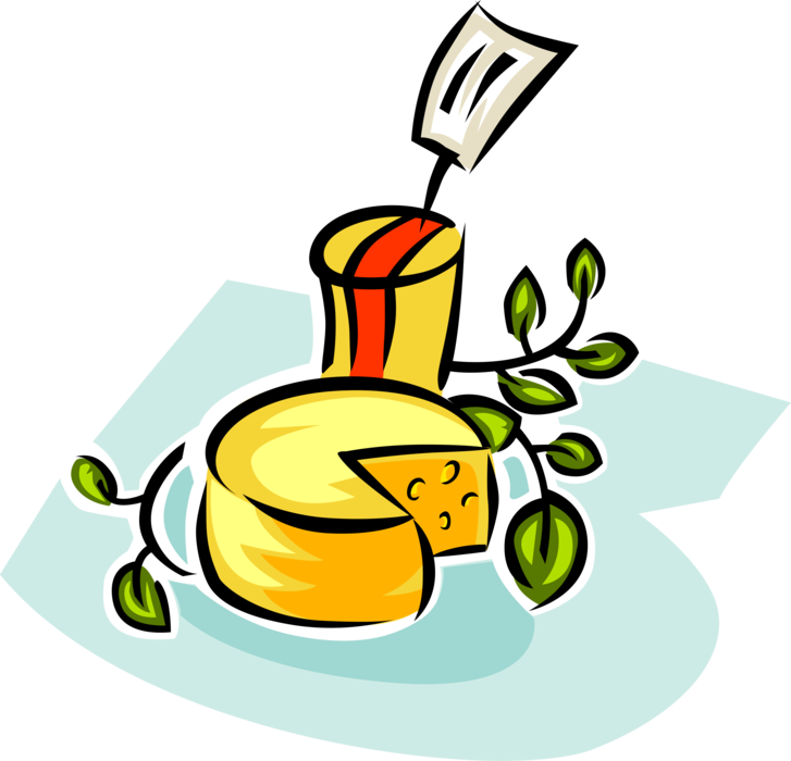 Cheese in deli grocery. Dairy clipart food supermarket