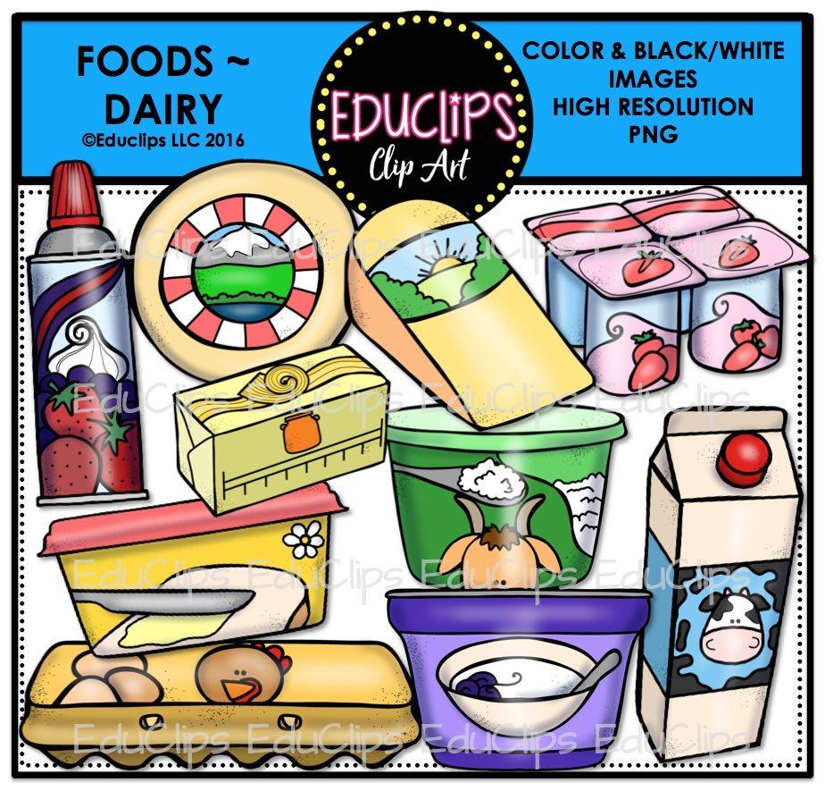 Foods clip art bundle. Dairy clipart food supermarket