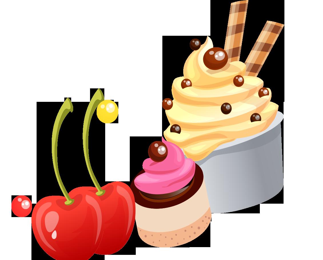 Waffle clipart butter. Ice cream fruit cartoon