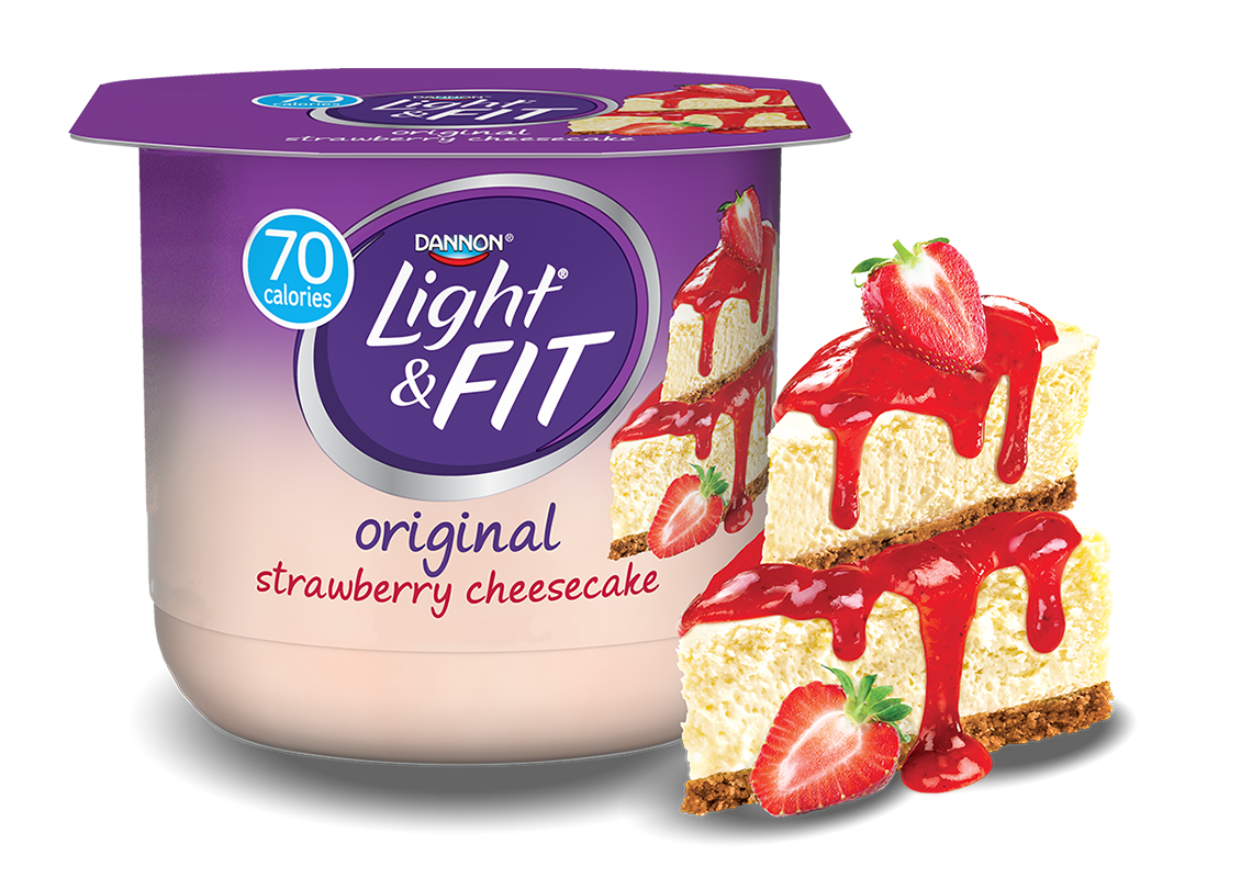 Strawberry Cheesecake Nonfat Yogurt | Light & Fit®