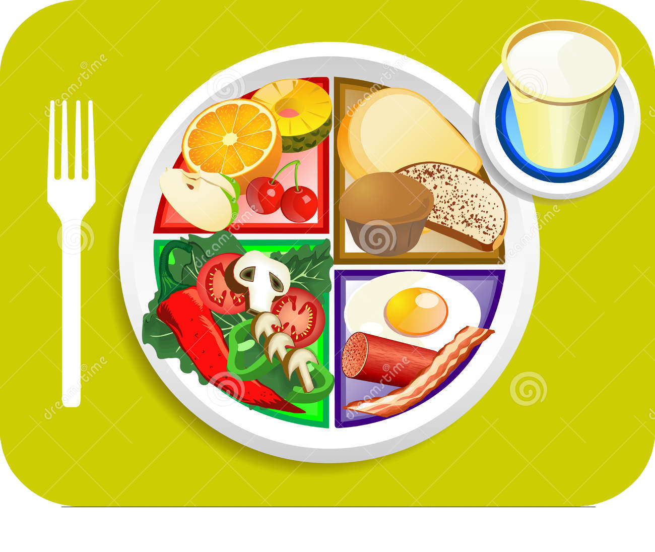 Healthy eating for the. Meal clipart myplate