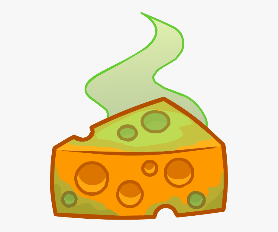 Stinky cheese cartoon cliparts. Dairy clipart smelly