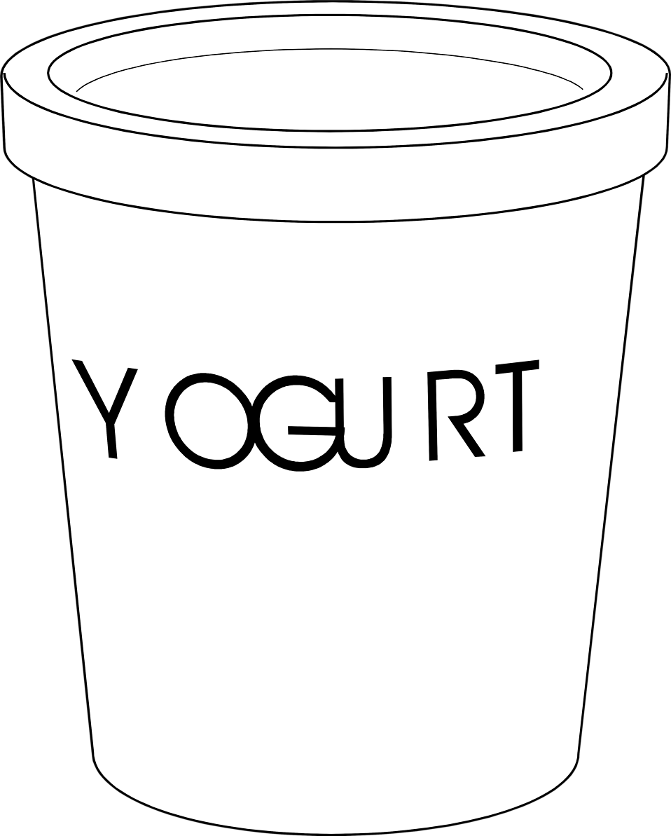 Yogurt clipart cute. Free stock photo illustration