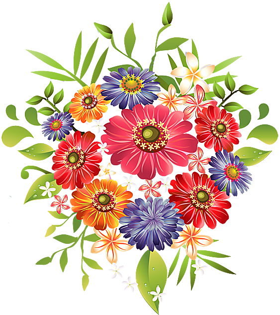 Rose clipart bunch. Wildflower daisy free collection