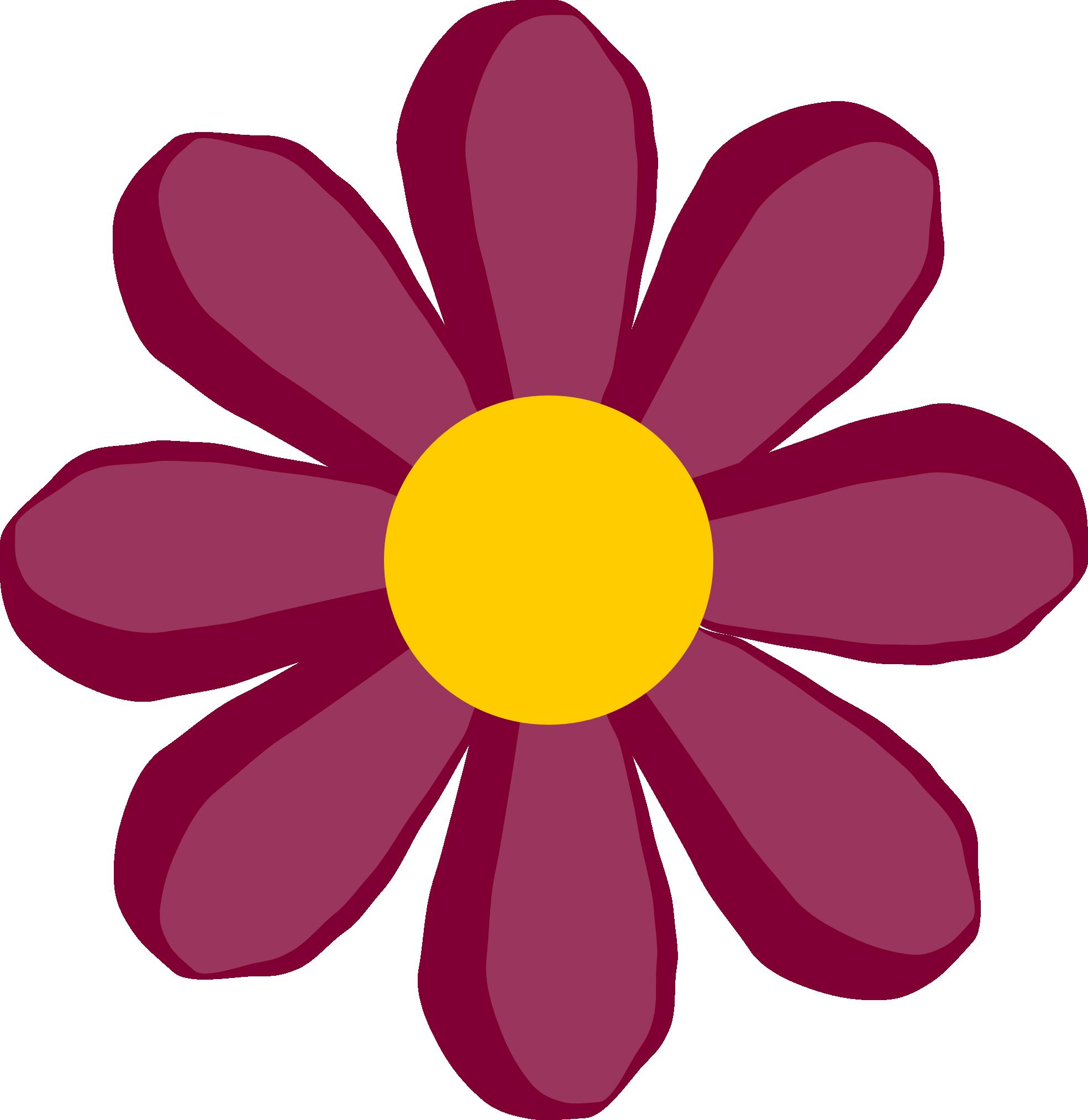 Peace and hippie daisy. Purple clipart summer