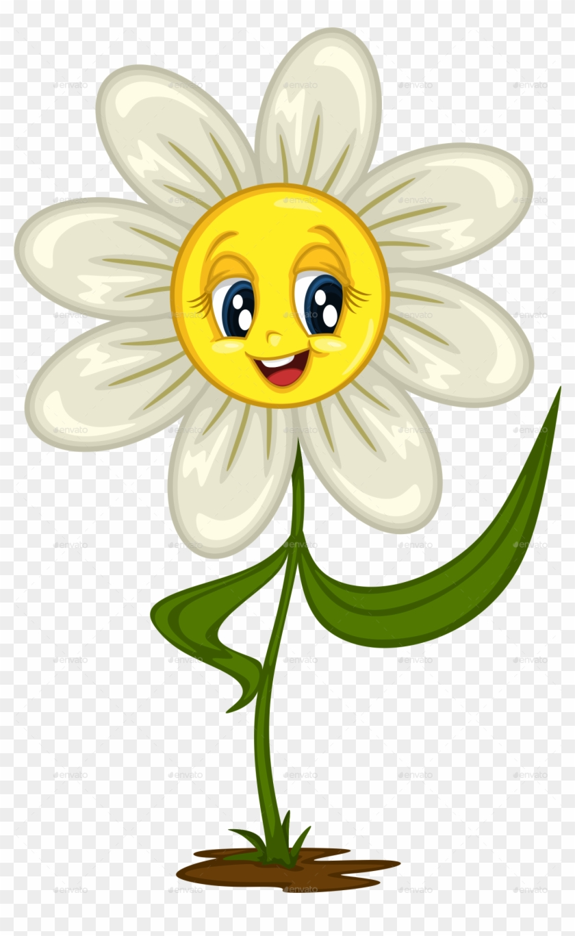 Smiling daisy cliparts making. Daisies clipart animated