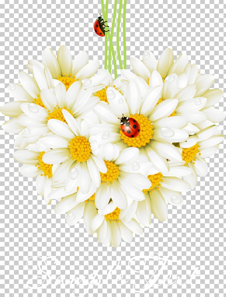 Valentines love greeting card. Daisy clipart flower day