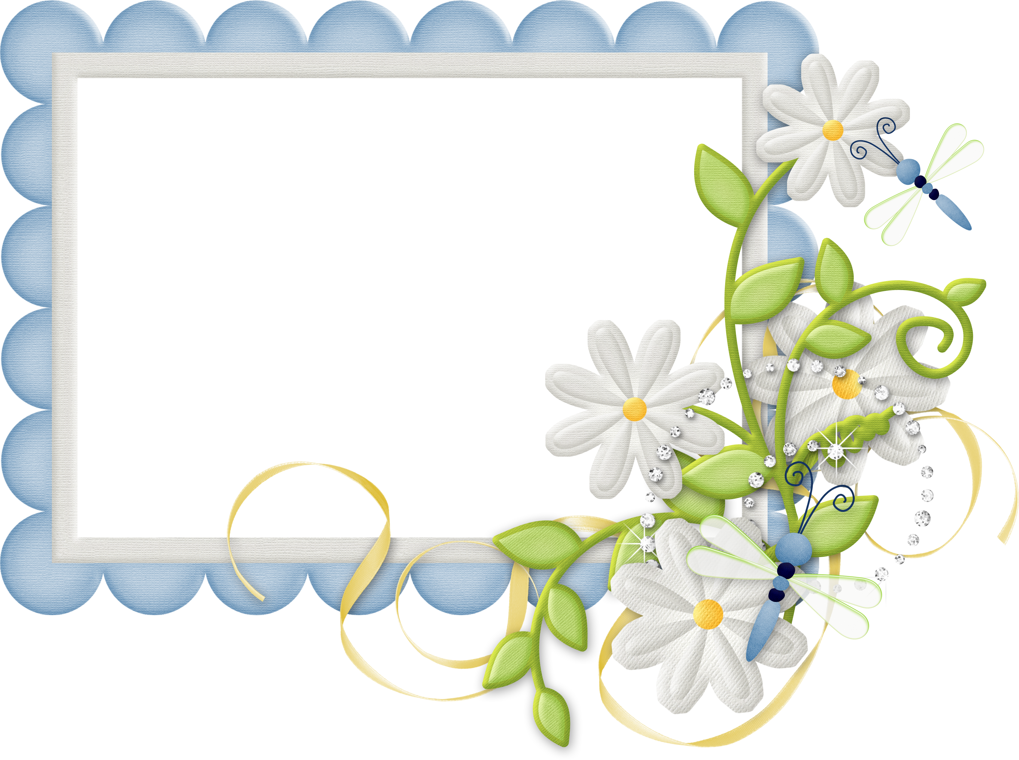 Frame design png. Cute large blue transparent