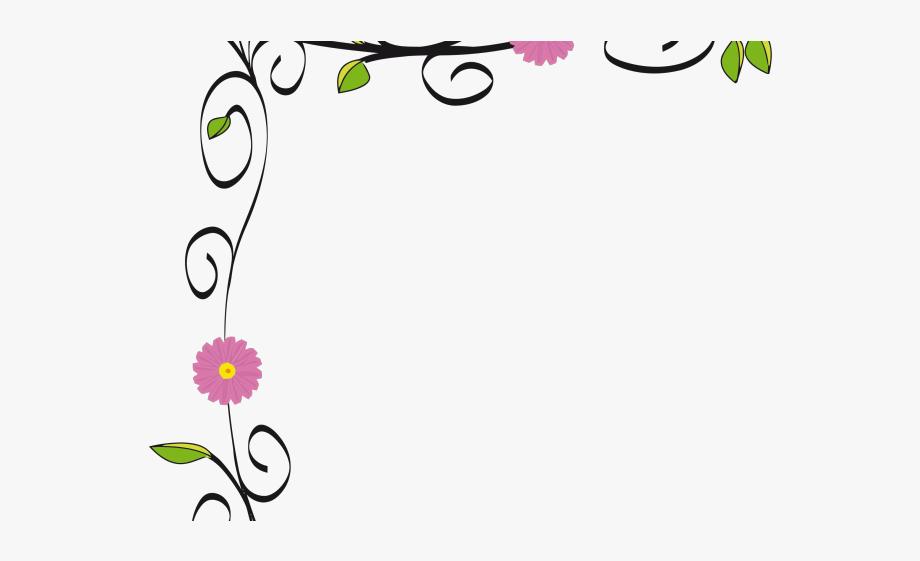 Daisy corner border simple. Daisies clipart banner