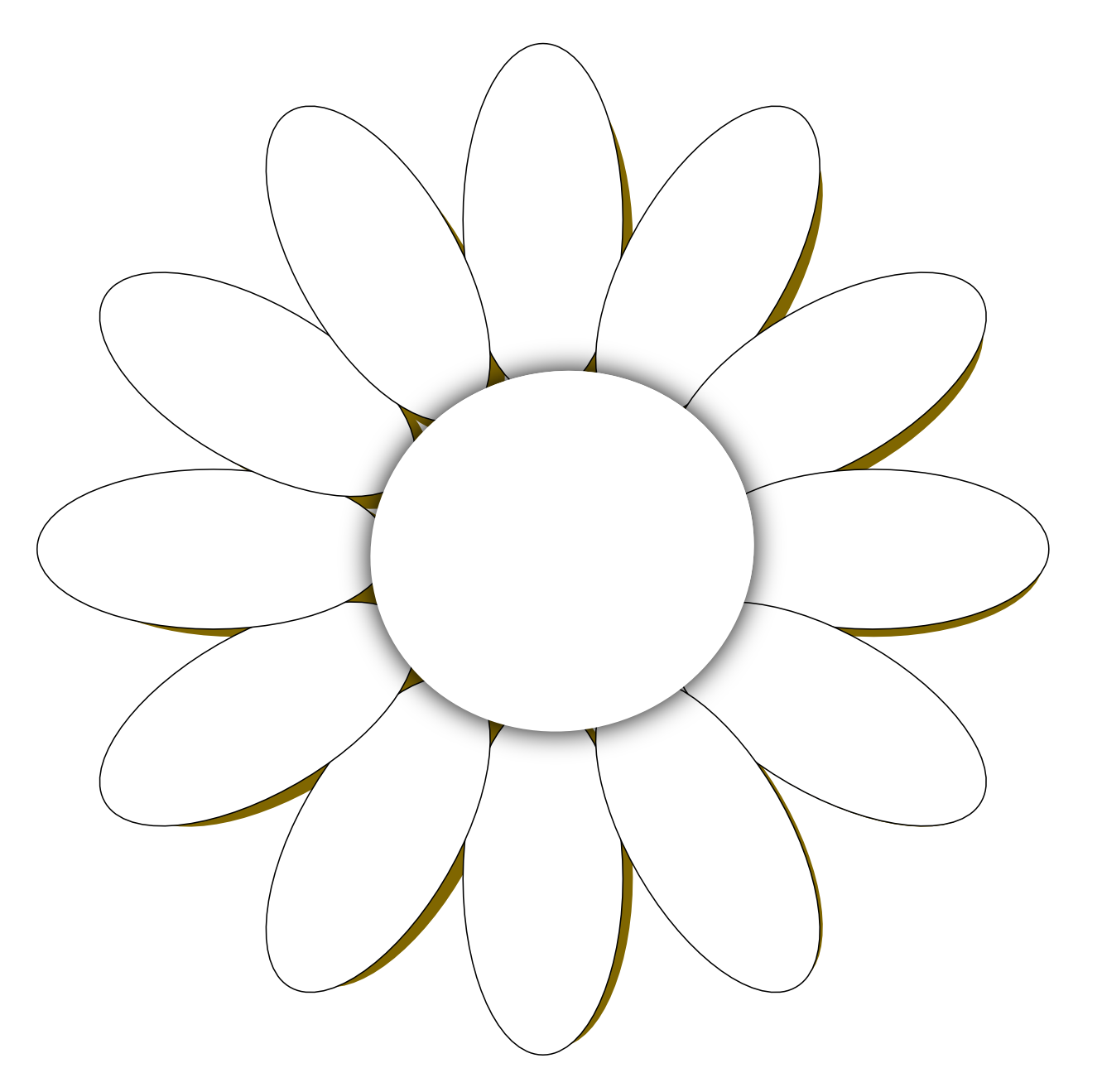 Line art drawings of. Outline clipart daisy