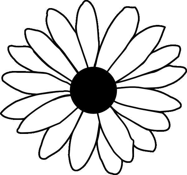 Black and white panda. Daisy clipart silhouette