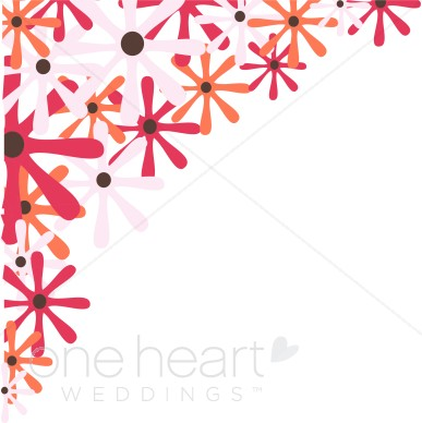 Retro wedding flower . Daisies clipart corner