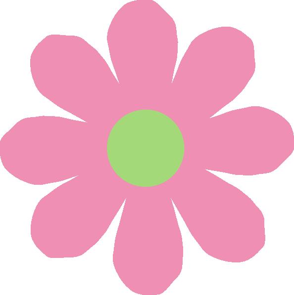 Pink green daisy clip. Daisies clipart daisey