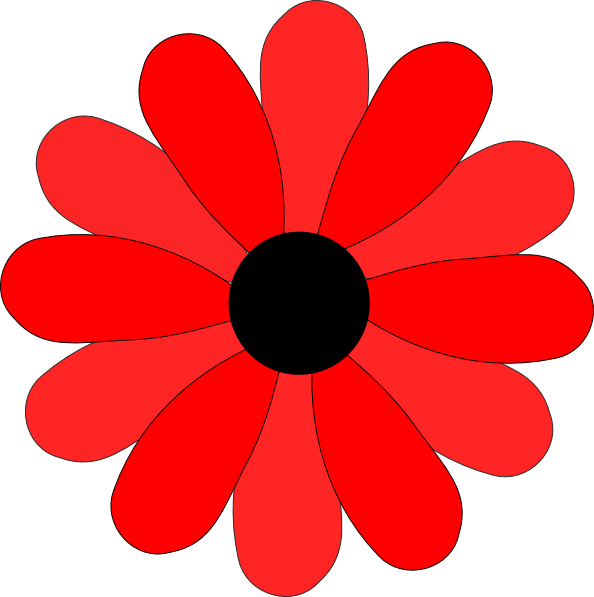 Daisies clipart five flower. Red gerbera daisy clip