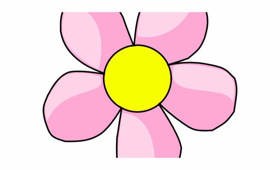 Daisy clipart daisy petal. Pink flower five clip