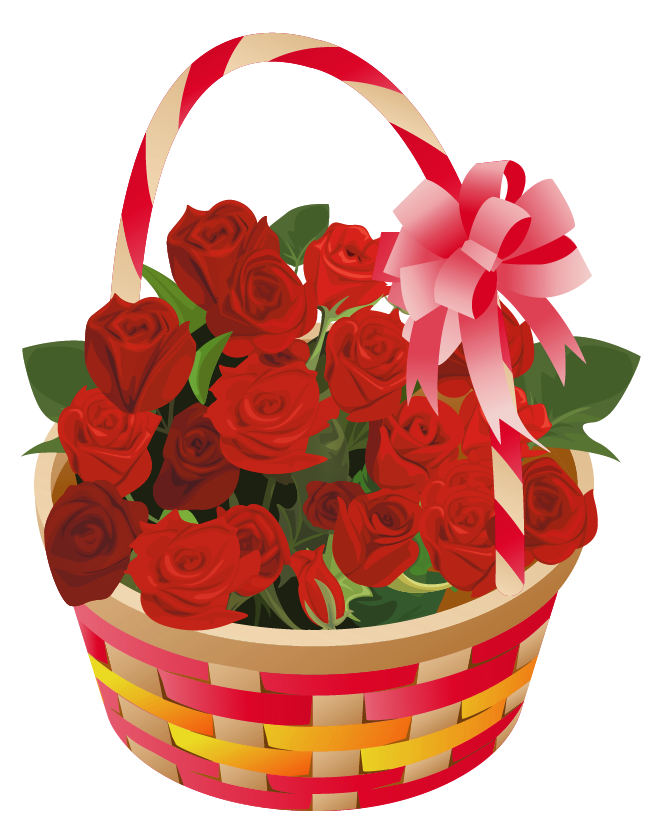 Daisies clipart flower basket. Roses png omey flowers