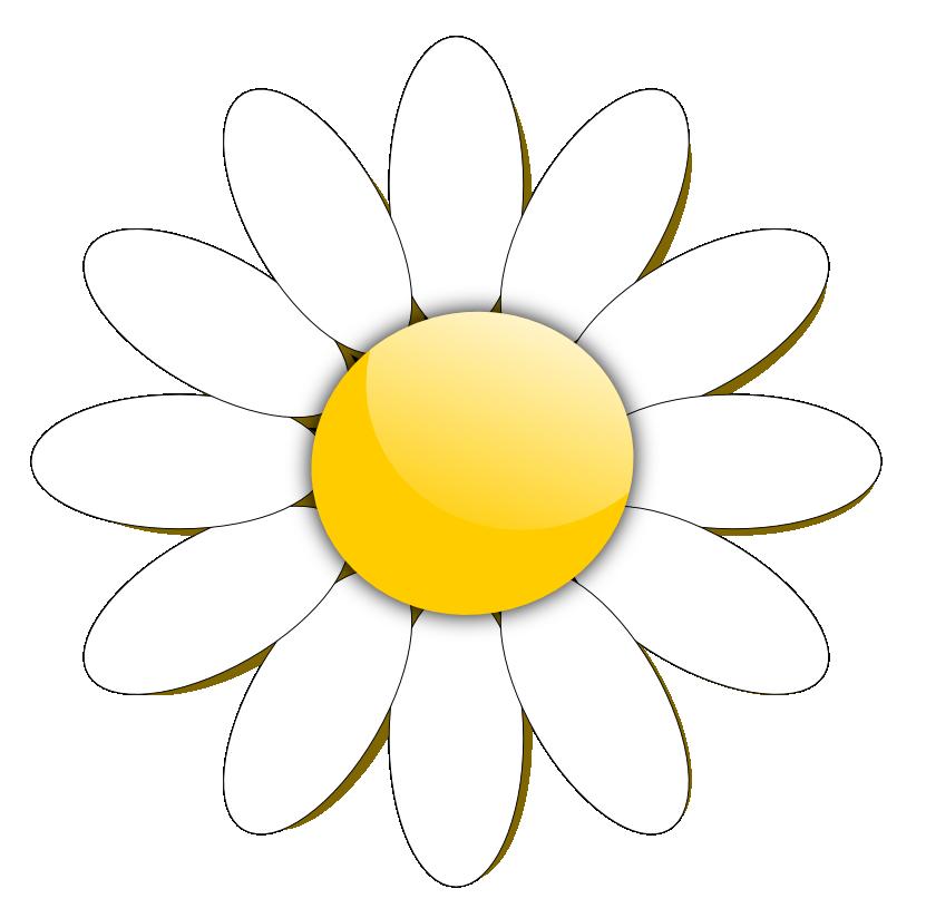 Outline clipart daisy. Flower clip art panda