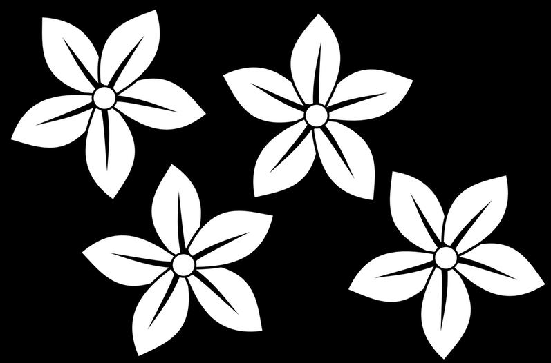 Daisies clipart four flower. Daisy clip art black