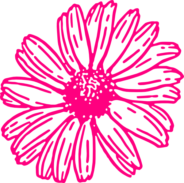 Daisies clipart four flower. Gerbera daisy collection pink