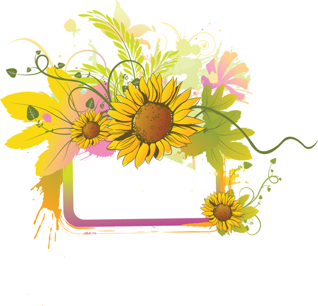 Grab this free to. Daisies clipart frame