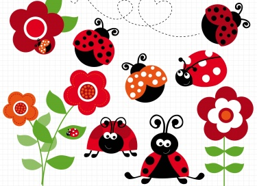 Ladybug on a clip. Ladybugs clipart daisy