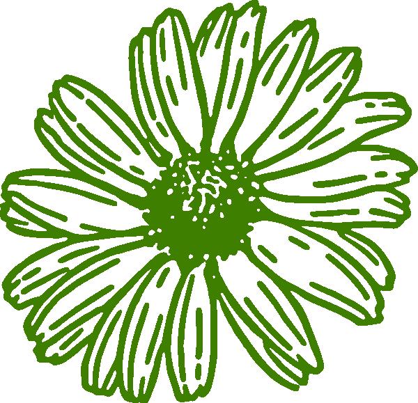 Daisies clipart orange. Green gerber daisy clip